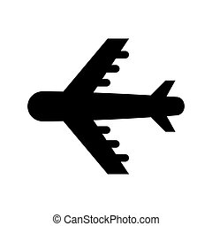 airplane silhouette isolated icon