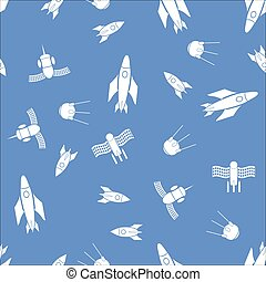 Airplane Silhouette Seamless Pattern