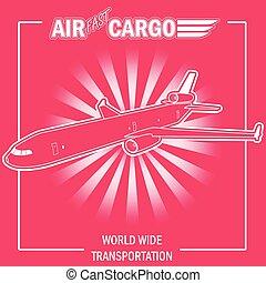 Airplane. Sticker for design.