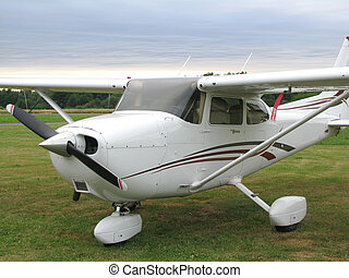 Airplane - Cessna- airplane on small airport