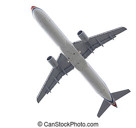 airplane - Passanger airplane isolated over white background