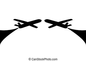 Airplane symbol design
