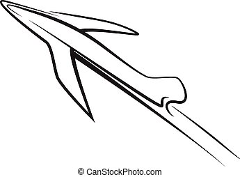 airplane symbol illustration design sign