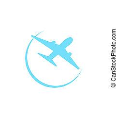 Airplane symbol isolated on white background
