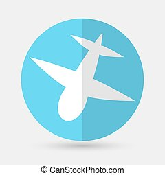 airplane symbol on a white background