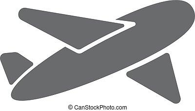 Airplane symbol. Travel icon. Flat design. EPS 10.