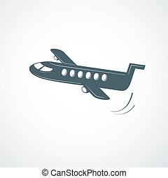 Airplane symbol, vector illustration