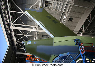 Airplane Tail During Production - Inside Aerospace...