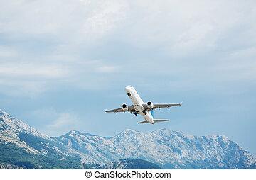 Airplane take off.