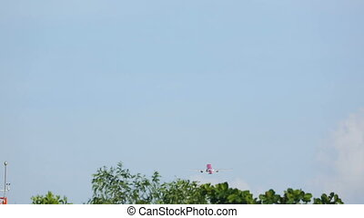 Airplane take-off an climb - Jet airplane take-off from...