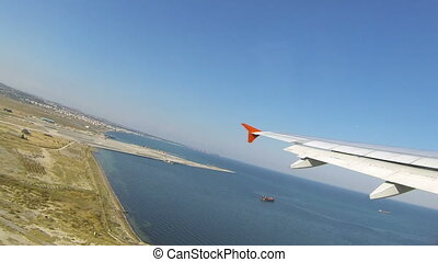Airplane take off from airport