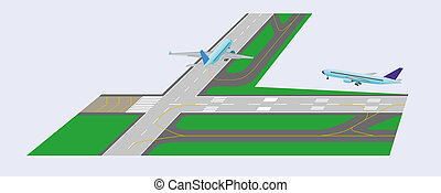Airplane takeoff from runway