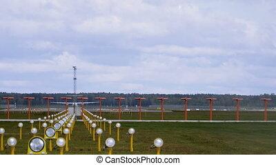 Airplane takeoff runway airport