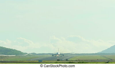 Airplane taking off from Phuket Airport