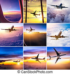 airplane theme collage