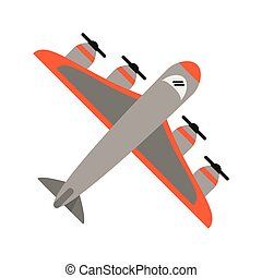 Airplane topview symbol isolated