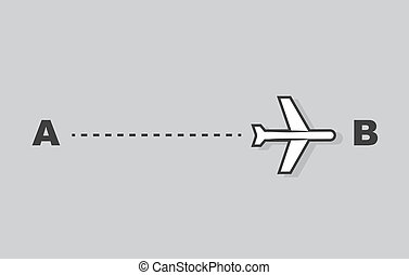Airplane Trail A to B