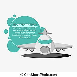 Airplane transportation vehicle travel, vector