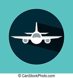 airplane travel design, vector illustration eps10 graphic