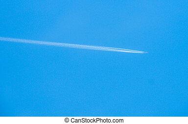 Airplane vapor trails