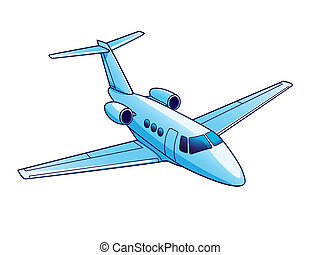 Airplane - Illustration of airplane. Isolated on white...