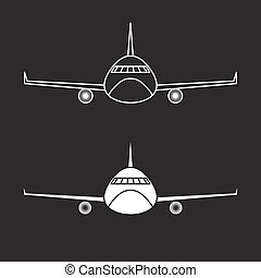 airplane vector design template