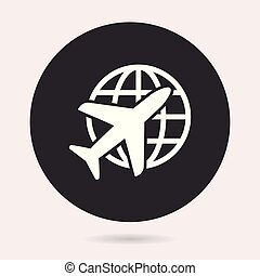 Airplane - vector icon.