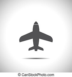 airplane vector icon logo