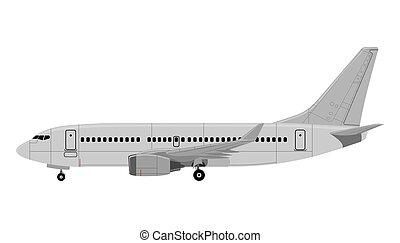 Airplane. Vector illustration.
