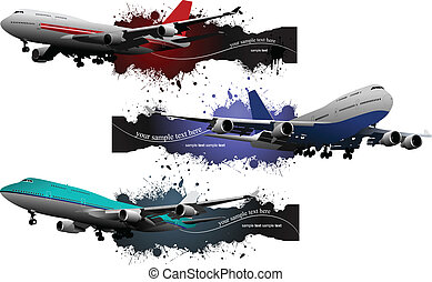Airplane. Vector illustration