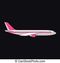 Airplane vector illustration.