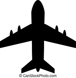 Airplane vector shape icon