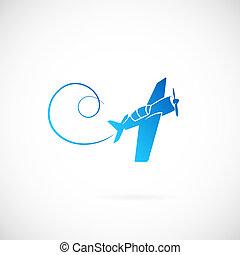 Airplane vector symbol icon