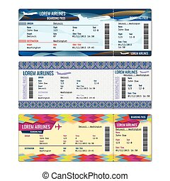 Airplane vector tickets