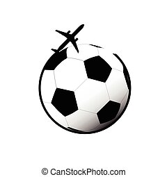 airplane vector with football