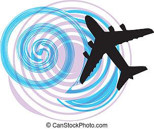airplane, vektor, illustration
