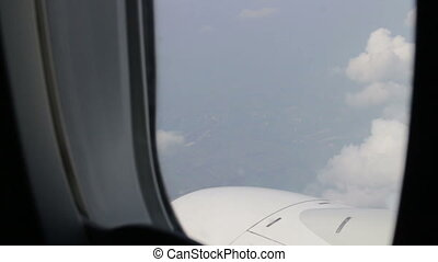 Airplane View Out Of Window
