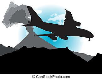 Airplane & Volcano