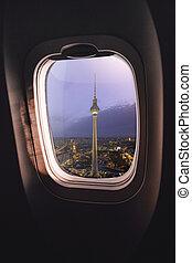Airplane window Berlin