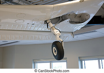 Airplane Wing Hanging in Office Building
