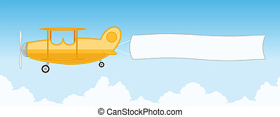 Airplane with banner.