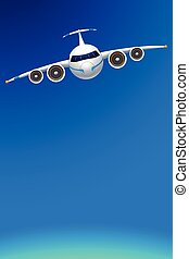 airplane with sky
