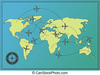 Airplane World Map