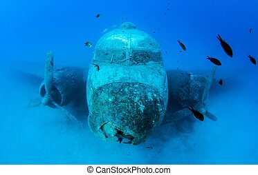 Airplane Wreck - Picture shows a airplane wreck in Turkey