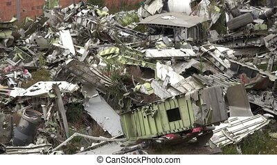 Airplane Wreckage, Accident, Scrap Metal