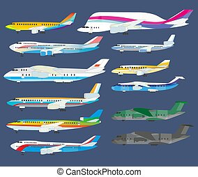 Airplanes and jet aircrafts for civil or military aviation collection