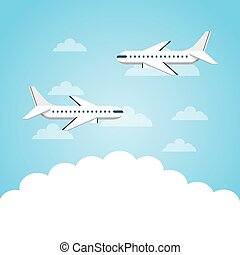 airplanes flying in the sky
