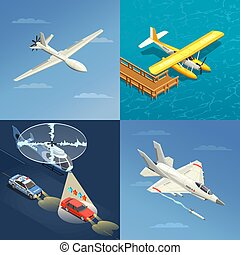Airplanes Helicopters Design Concept
