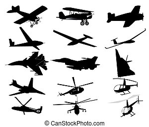 airplanes helicopters