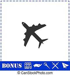 Airplanes icon flat